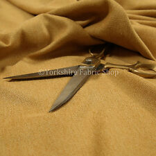 Quality Soft Highland Wool Effect New Gold Chenille Curtain Upholstery Fabrics