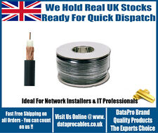 100m SINGLE HEAVY DUTY RG59 Coaxial CCTV Security Camera CABLE Lead WIRE ROLL UK