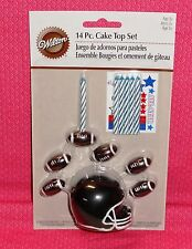 Football Cake Topper Candle Set,2811-8424.Wilton, Multi-color, Party Decoration