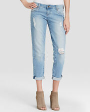 WOMEN'S KUT FROM THE KLOTH ADELE DESTROYED DENIM JEANS SIZE 14W