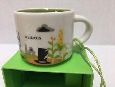 Starbucks Illinois You Are Here Ceramic Ornament Mini Mug Espresso Cup