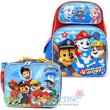 Paw Patrol Large School Backpack Insulated Lunch Bag 2pc Set Boys Set Paw Work