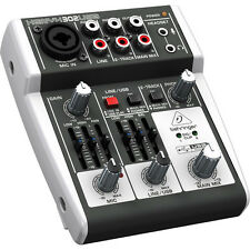 BRAND NEW Behringer XENYX 302USB 5-Input Compact Mixer and USB Interface