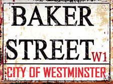 BAKER STREET LONDON METAL STREET  SIGN VINTAGE STYLE 8x10in20x25cm pub bar shop