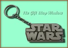 STAR WARS LOGO METAL KERYING GENUINE LUCAS FILM KEYCHAIN BRAND NEW KEY RING