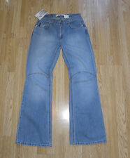 Blue Denim ARIZONA Zip Light Stonewashed Bootcut Jeans Sz 12 / 40 L 32 Grunge