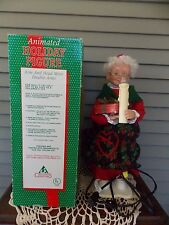 "Holiday Creations 18"" Animated Mrs Santa Claus Electric Christmas Holiday Figure"