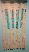 Beaded Door Curtains Wooden Wall Hanging Drapes Room Divider Beads Vintage