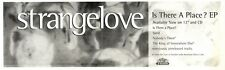 """ARTICLE - ADVERT 29/10/94PGN03 STRANGELOVE : IS THERE A PLACE E.P 3X11"""""""