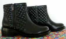 NEW  Sam  Edelman   Black  Quilted  Leather  Ankle  Boot     10 M   (msrp$ 195+)