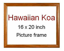 Koa Wood 16 x 20 veneer picture frame ~ Made in Hawaii ~ New with glass / hanger