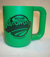 RARE Automobilia Flint Autoworld green collectible mug Six Flags Park