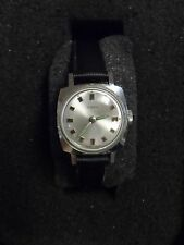 Timex Wind Up Watch Square Silver Face Mechanical Vintage 5693 2370