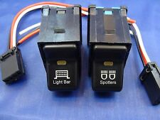 2 Rocker Switches LIGHT BAR / SPOTTERS TJ Wrangler LIFE TIME WARRANTY New