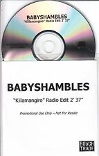 BABYSHAMBLES Killamangiro 2004 UK Rough Trade 1-track promo test CD Pete Doherty