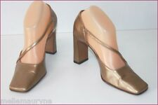 SERGIO ROSSI Escarpins Tout Cuir Bronze T 36.5 IT / T 37.5 BE