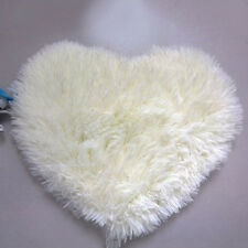 Heart Shaped Shaggy Fluffy Rugs Anti-Skid Area Rug Carpet Home Bedroom Floor Mat