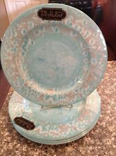 Il Mulino Blue  MELAMINE Dinner Plates Set Of 4