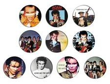 ADAM AND THE ANTS Adam Ant prince charming pin pinback button BADGE SET 1a