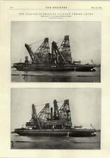 1914 Italian Submarine Salvage Vessel Anteo