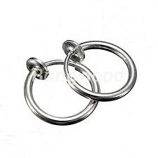 1Pair Fake Clip On Spring Nose Hoop Ring Ear Septum Lip Eyebrow Earring Piercing