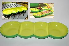 NEW Tupperware Allegra 4 Peas Serving Center Divided Chic Dining Appetizer Tray