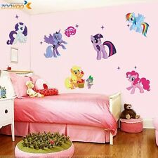 DIY Wall Sticker My Little Pony 3D Cartoon Stickers Girls Room Wall Decoration
