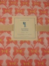 3pc POTTERY BARN KIDS BUTTERFLY SHEETS TWIN ORANGE