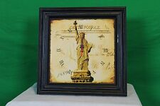 Statue of Liberty Kitchen Wall Clock New York City Antique Style Vintage New