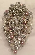 ❤️ Bridal Brooch Wedding Bouquet Crystals Pearls - Lots Of Colours!