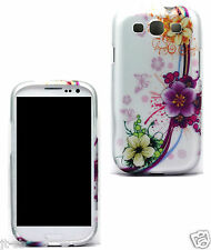 y.Green Flower Rubber Feel Hard Case For Samsung Galaxy S3 SIII SCH-R5