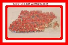 Non O-Ring Drive Chain Red Color 520 x 94 ATV Motorcycle 520 Pitch 94 Links