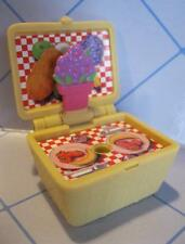FISHER PRICE Sweet Streets Dollhouse PICNIC LUNCH BASKET FLOWERS from Carriage