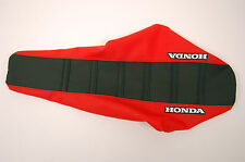 "New Black & Red ""Honda"" Ribbed Seat cover CR125 91-92, CR250 90-91, CR500 90-06"