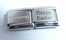 HAPPY EASTER 9mm Italian Charm + 1x Genuine Nomination Classic Link BUNNY EGG