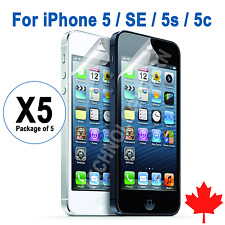 5x iPhone 5 SE 5C 5S Clear Screen Protector