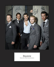 BOYZONE 10x8 SIGNED Mounted Photo Print - FREE DELIVERY