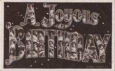 POSTCARD  ACTRESSES / NAME CARDS  A Joyous Birthday