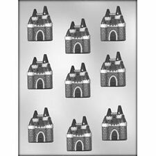 "Castle 2""   Chocolate Candy Mold  Princess Fairytale Knight Medieval House"