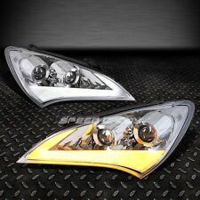CHROME DUAL HALO PROJECTOR HEADLIGHT+LED R8 STRIP FOR 10-12 GENESIS COUPE BH/GK