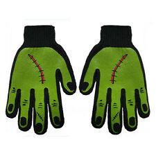 Gothic Horror Monster Zombie Horror Frankenstein Black Green Mens Work Gloves
