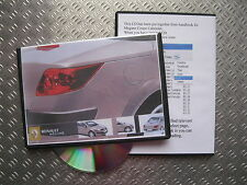 MEGANE COUPE CABRIOLET OWNERS MANUAL  HANDBOOK 2003 04 05 06 07 08 09 CC CAB