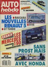 AUTO HEBDO n°572 du 6 Mai 1987 GP SAN MARIN MERCEDES 190 E variations & transfor