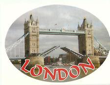 London Tower Bridge Oval External Car Bumper Sticker Decal