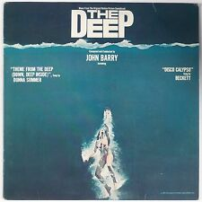 THE DEEP: Soundtrack OST lp BLUE WAX John Barry w/ POSTER Killer NM