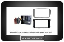 Einbauset  2DIN + ISO Adapter  FORD MONDEO FOCUS S-MAX C-MAX GALAXY KUGA 2007-