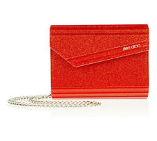 [NEW] Jimmy Choo | Candy | Tangerine Glitter Acrylic | RRP £450 | Clutch Bag |