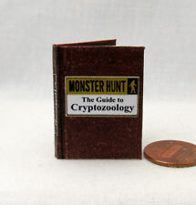 CRYPTOZOOLOGY MONSTER HUNTER 1:6 Scale Book Readable Illustrated Miniature Book