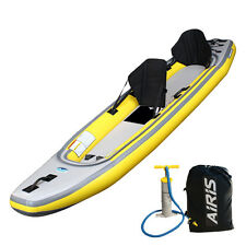 Airis Play Tandem 6PSI Hi-Pressure Inflatable Kayak from Walker Bay -for 1 or 2!