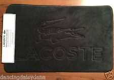 "LaCoste Alligator Memory foam Bath Matt Rug 21""x34"" Cliff Charcoal NEW Free Ship"